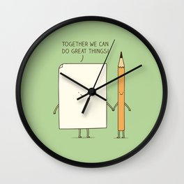 Together we can do great things! Wall Clock