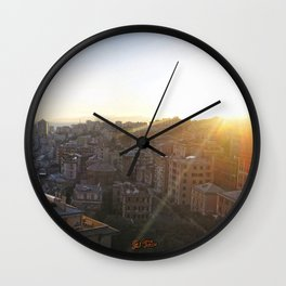Tramonto a Genova 2 Wall Clock