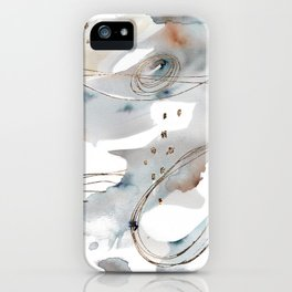 Gold Celestial Strings iPhone Case