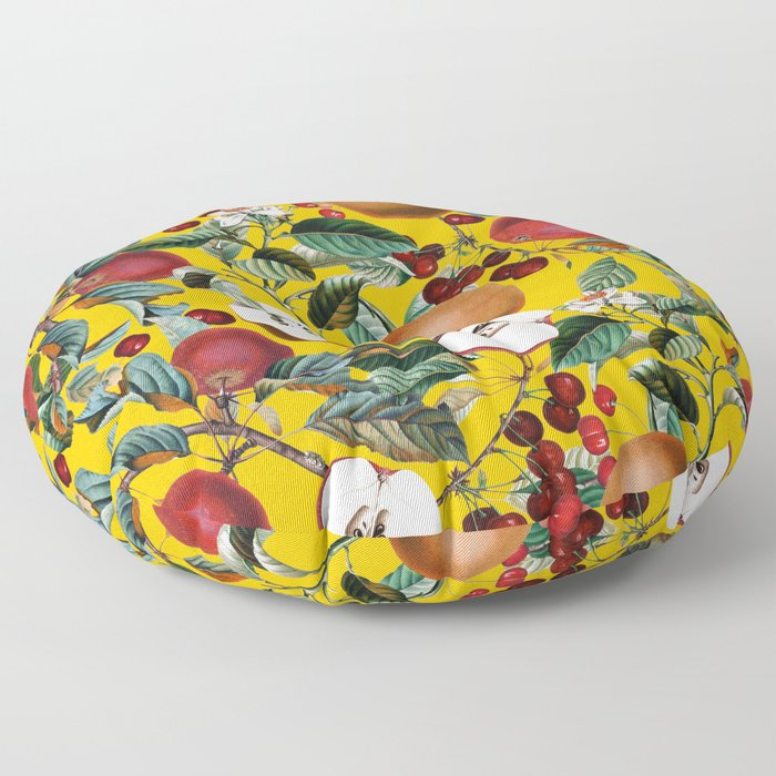 Vintage Fruit Pattern V Floor Pillow