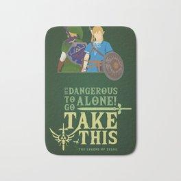 The legend of zelda - Minimalist Quote Game Bath Mat