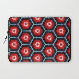 Thessa Red Hexa Laptop Sleeve