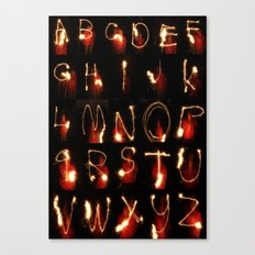 alphabet lights Canvas Print