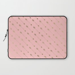Bohemian elegant faux gold coral modern arrow pattern Laptop Sleeve