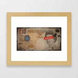 QU££N BURN Framed Art Print
