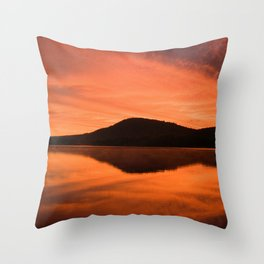 Dawn on Fire: Lac du Saint Sacrement Throw Pillow
