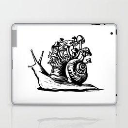 Mushroom Snail Linocut Laptop & iPad Skin