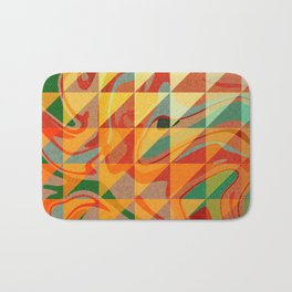 Contemporary Sunny Geometric Design Bath Mat