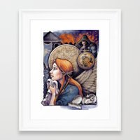 sansa Framed Art Prints featuring The Story of Sansa Stark by asdfhd
