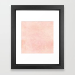 pink blush color trend plain texture Framed Art Print