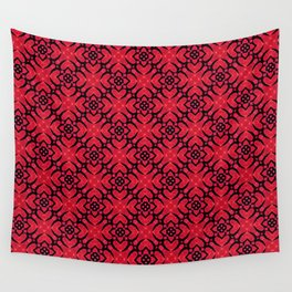 Square heart floral Wall Tapestry