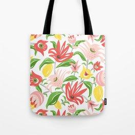 Island Garden Floral Tote Bag