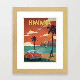 Vintage travel poster-Cuba-Havana. Framed Art Print