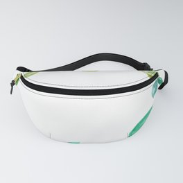 wreath of leaves watercolor Fanny Pack