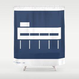Villa Savoye Shower Curtain