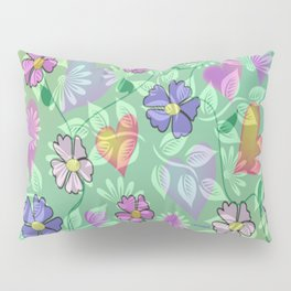 """ Flower Intertwine "" Pillow Sham"
