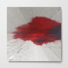 Extruded Blood Metal Print