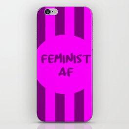 feminist af funny saying girl power iPhone Skin