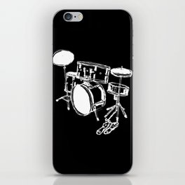 Drum Kit Rock Black White iPhone Skin