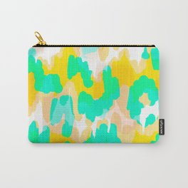 Sara - bright turquoise, green, blue abstract art Carry-All Pouch