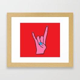 The Horns - Rock On Framed Art Print