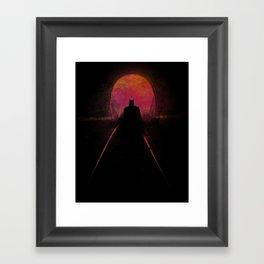 Bat-man: The dark hero Framed Art Print