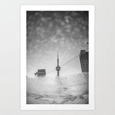CN Tower reflection Art Print