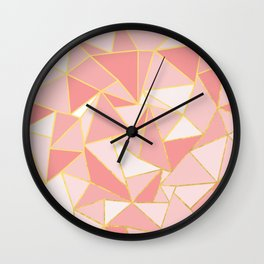 Ab Out Blush Gold Wall Clock