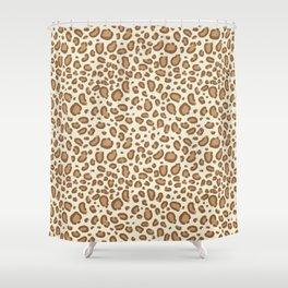 Leopard spots animal pattern print minimal basic home decor safari animals Shower Curtain
