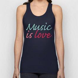 Music is Love Unisex Tank Top
