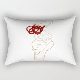 circus-the bearded lady Rectangular Pillow