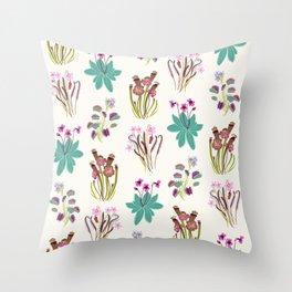 Carnivorous Plants Light Throw Pillow
