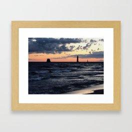 Summer Sunset, Grand Haven Beach 2017 Framed Art Print