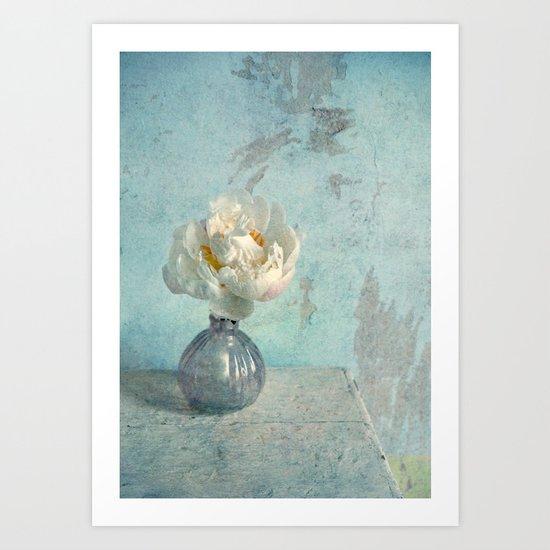 Miss White Art Print
