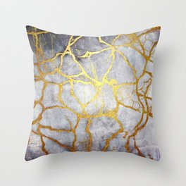 KINTSUGI  ::  Recognise Beauty Throw Pillow