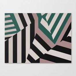 ASDIC/SONAR Dazzle Camouflage Graphic Design Canvas Print