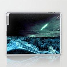 galaxy mountains teal Laptop & iPad Skin