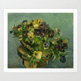 """Vincent van Gogh """"Basket of Pansies"""" Art Print"""