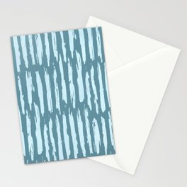 Vertical Dash Turquoise on Teal Blue Stationery Cards