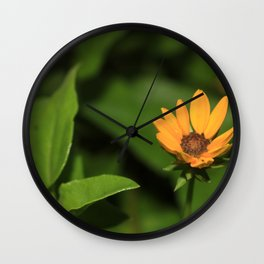 Isolated Yellow Flower Wall Clock