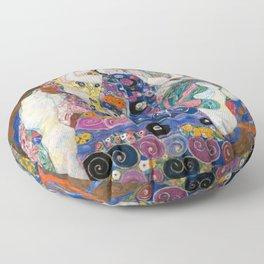Gustav Klimt Die Jungfrauen The Maiden Floor Pillow
