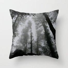 The Dark Forest (Black and White) Throw Pillow