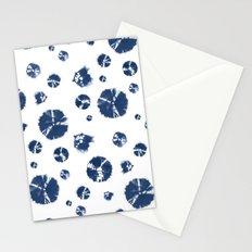 Shibori Polka Splotch Indigo Blue Stationery Cards