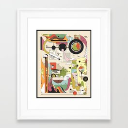The Cozy Adventure Framed Art Print