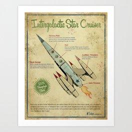 Retro Futuristic, Steampunk Cruiser Art Print