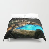 milan Duvet Covers featuring milan pool by chicco montanari