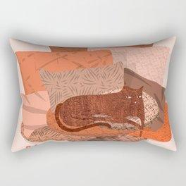 Nope -Red Lazy Cat Rectangular Pillow