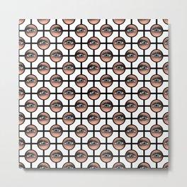Watching You Polka Dots Grid Metal Print