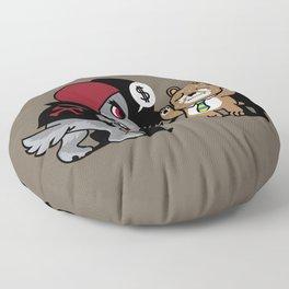Animal Robbery Floor Pillow