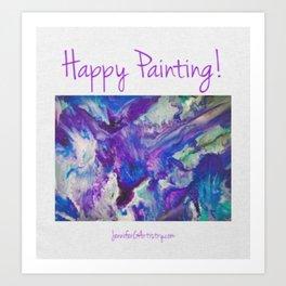 Happy Painting logo Art Print